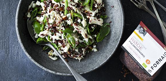Salat på røde fuldkornsris