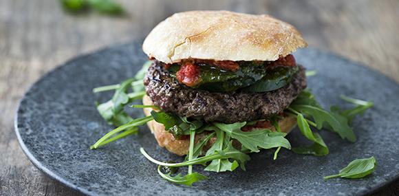 ekologisk hamburgerbröd